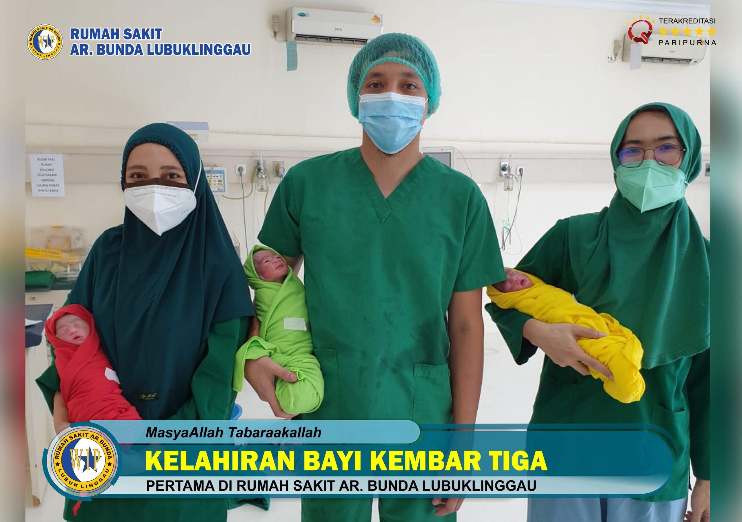 Kelahiran Bayi Kembar 3 Pertama